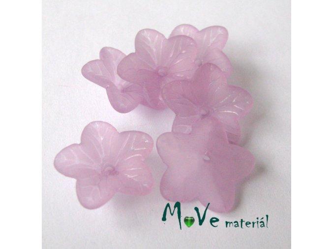 Akrylový květ 18mm, 6ks, růžovofialový