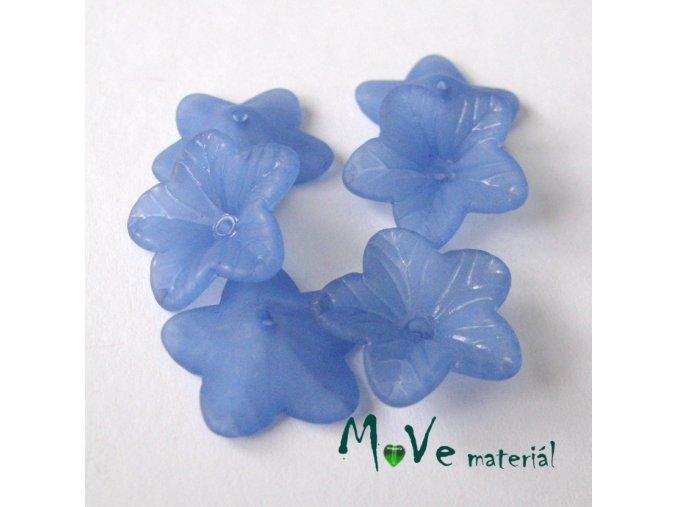 Akrylový květ 18mm, 6ks, stř. modrý