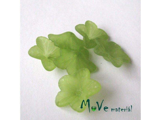 Akrylový květ 18mm, 6ks, hráškový