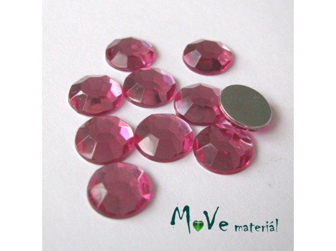 Plastový kabošon 10x3mm/10ks, růžovofialový