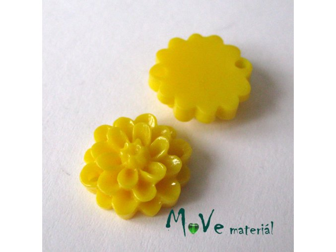 Kabošon resin D1 (mezikus) 2ks, žlutý