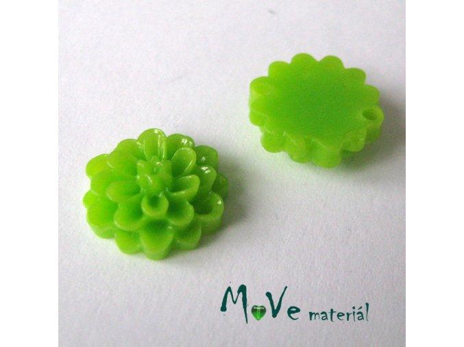 Kabošon resin D1 (mezikus) 2ks, sv. zelený