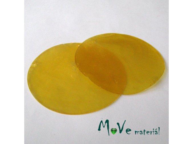Přívěsek 65mm perleť II.JAKOST/2ks,žlutá