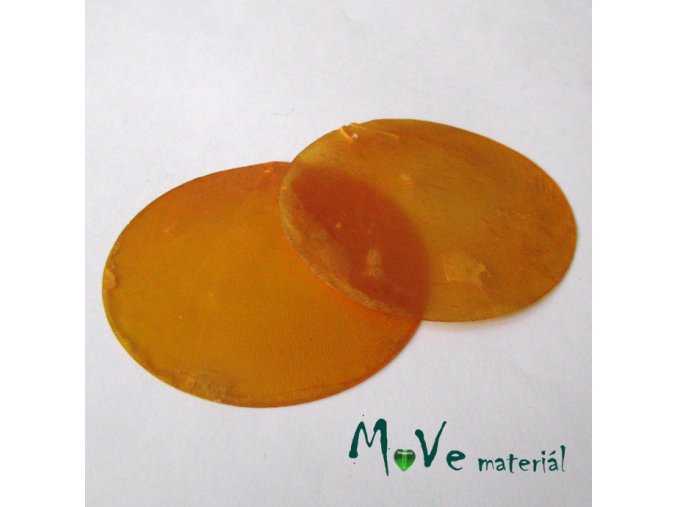 Přívěsek 65mm perleť II.JAKOST/2ks,oranžová