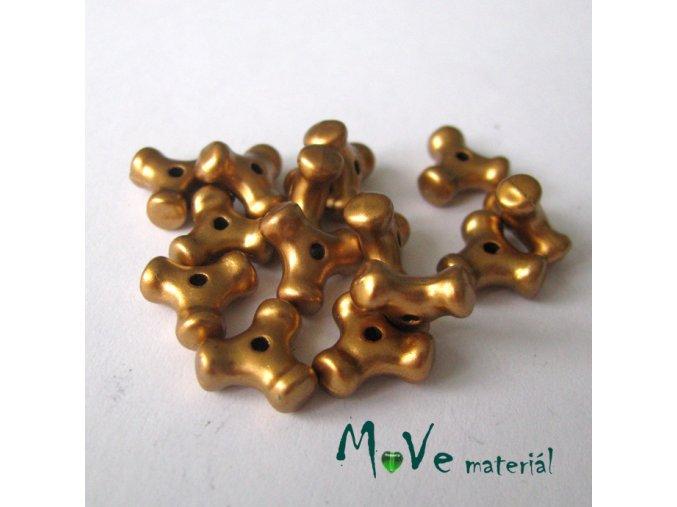 Plastový mezikus - trojcípý, 14kusů, zlatý