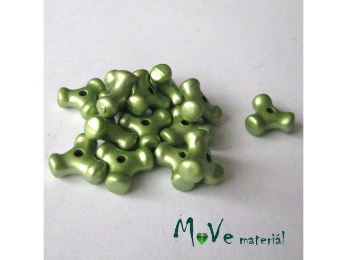 Plastový mezikus - trojcípý, 14kusů, sv. zelený