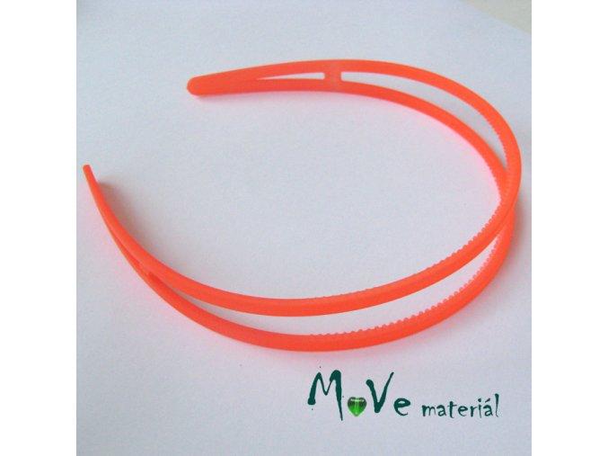 Čelenka dvojitá plastová, neon. oranžová
