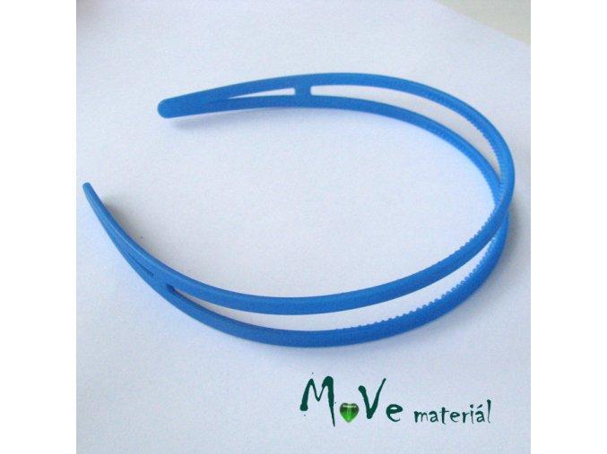 Čelenka dvojitá plastová, modrá