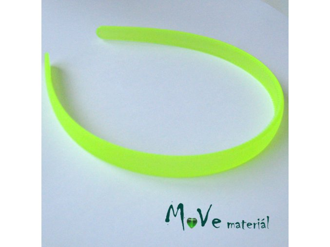 Čelenka jednoduchá plastová 13mm, neon. žlutá