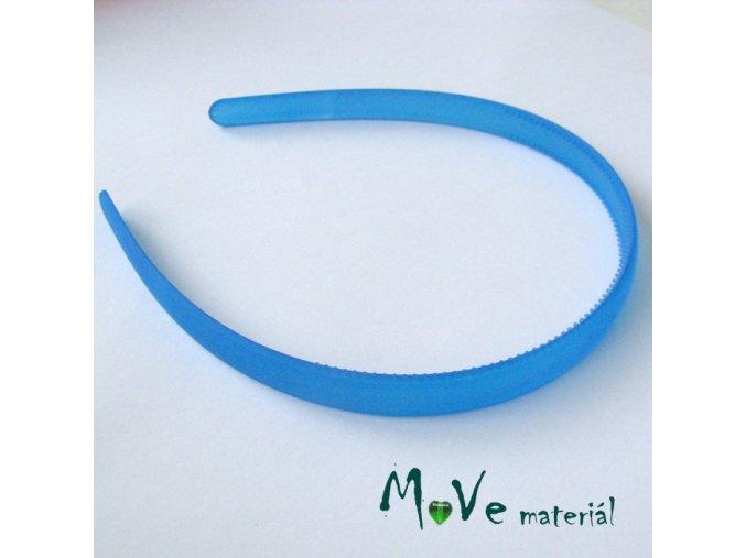 Čelenka jednoduchá plastová 13mm, modrá