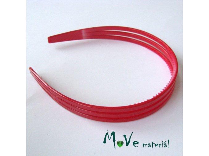 Čelenka trojitá plastová, červená