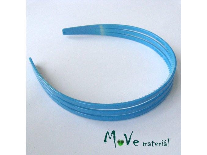 Čelenka trojitá plastová, modrá