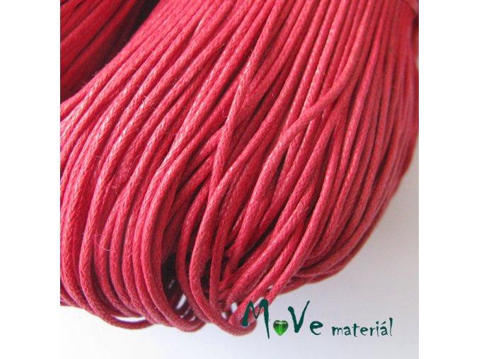 Šňůra voskovaná bavlněná 1mm/3m, červená