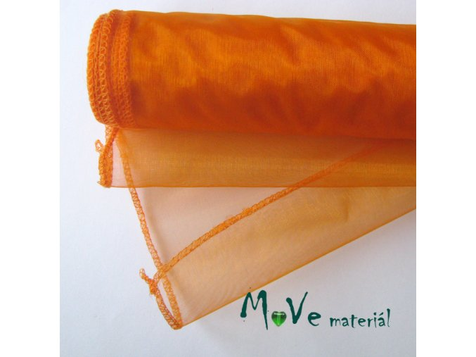 Organza pomerančová II š. 36 cm/ 1m