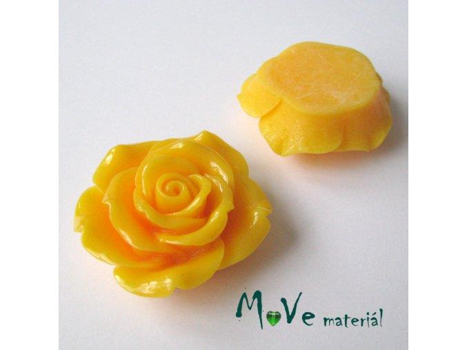 Kabošon lesklý K2 - resin - 1ks, žlutý