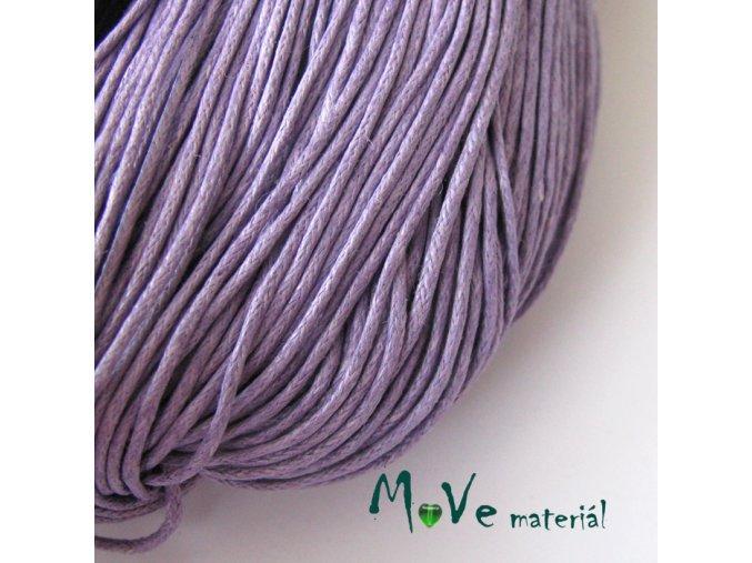 Šňůra voskovaná bavlněná 1mm, 3m, fialová