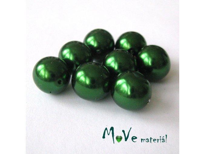 České voskové perle12mm 8ks (cca 20g), zelené