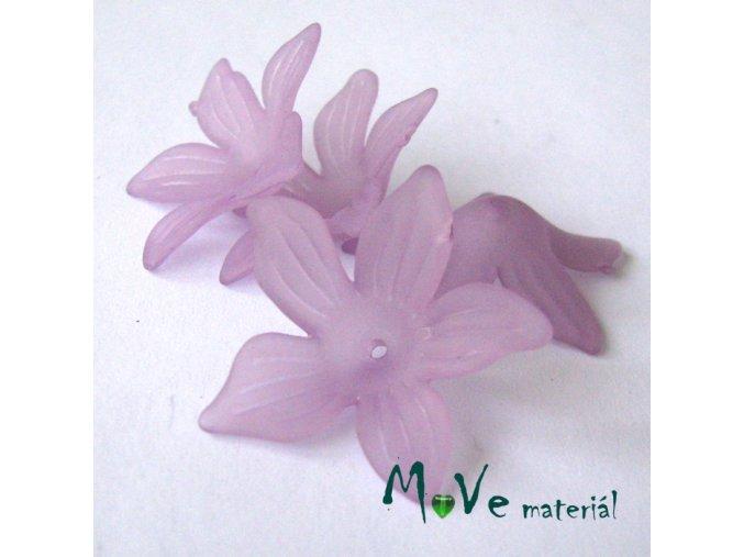 Akrylový květ 27x7mm, 4ks, fialový