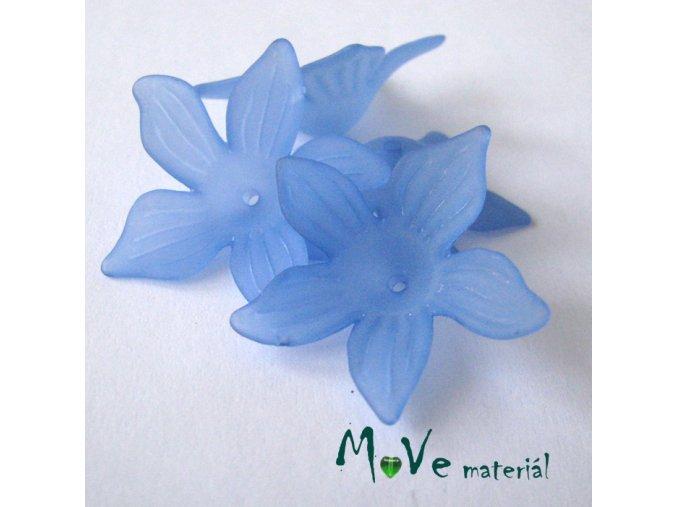 Akrylový květ 27x7mm, 4ks, modrý