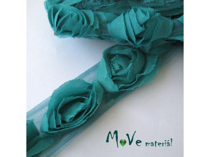 Prýmek na monofilu 50mm, 0,5m, smaragdový