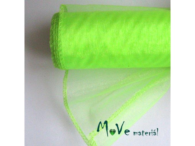 Organza neonově zelená š. 12 cm/ 1m