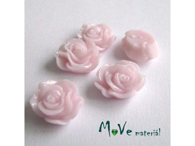 Kabošon květ lesklý A3 - resin - 2ks, bl. růžová