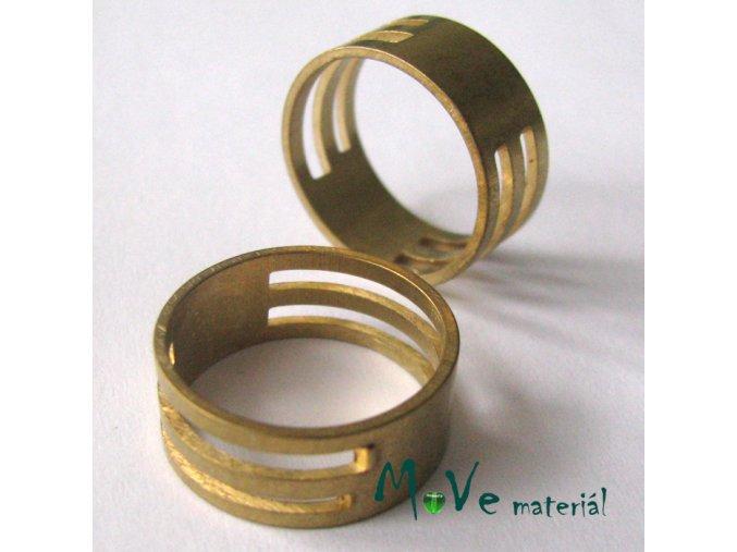 Ketlovací kroužek - prstýnek 17mm, staromosaz