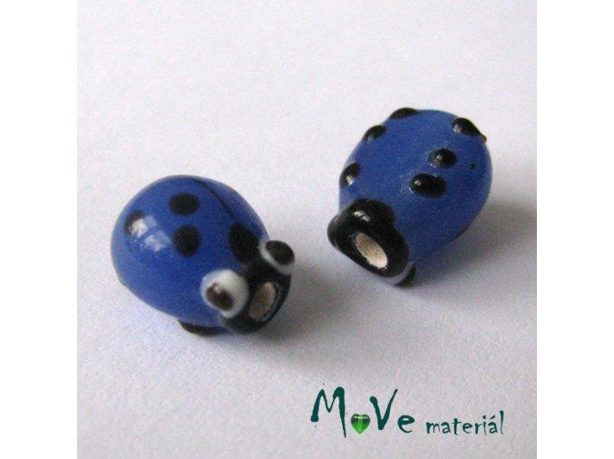 Beruška vinutka cca13x12x9mm, 1ks, modrá