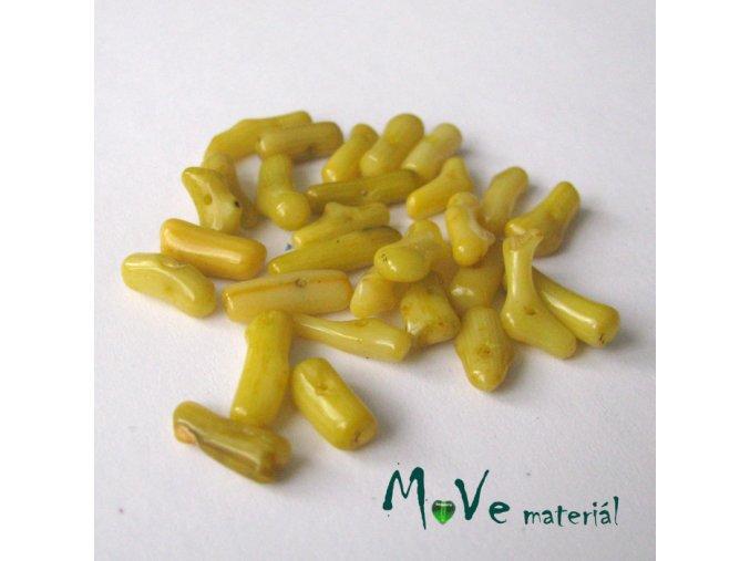 Přírodní korál barvený - tyčky, 7g, žlutý
