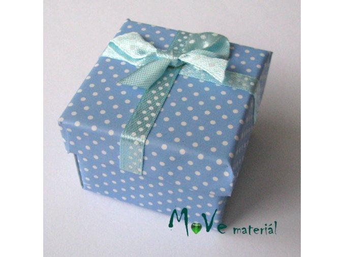 Krabička papírová na prstýnek, modrá