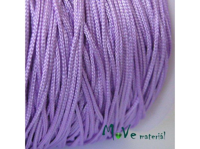 Nylonová pletená šňůra - 1mm/3m, sv. fialová