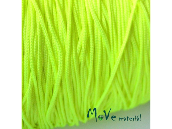 Nylonová pletená šňůra - 1mm/3m, neon. žlutozelená