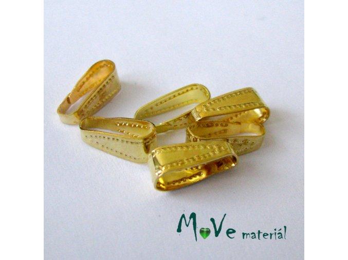 Šlupna střední 10x3,4mm, 6ks, zlatá