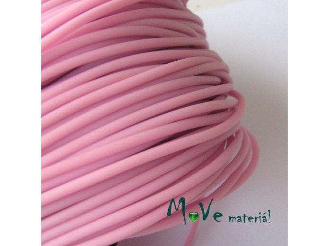 Pryžová šňůra 3mm/1m, světle růžová