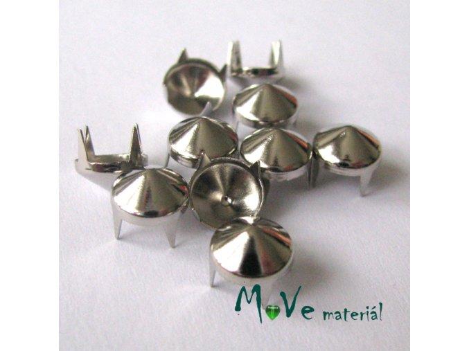 Cvočky na oblečení 8mm kužel, 10ks, stříbrný