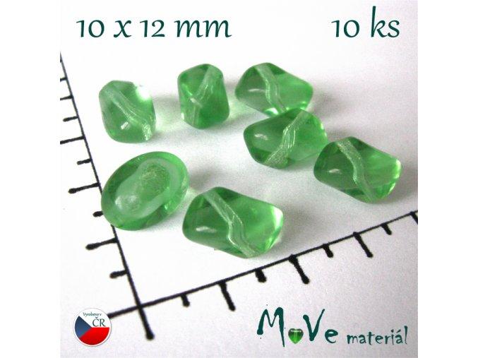 České skleněné zelené lampionky 10x12 mm 10ks