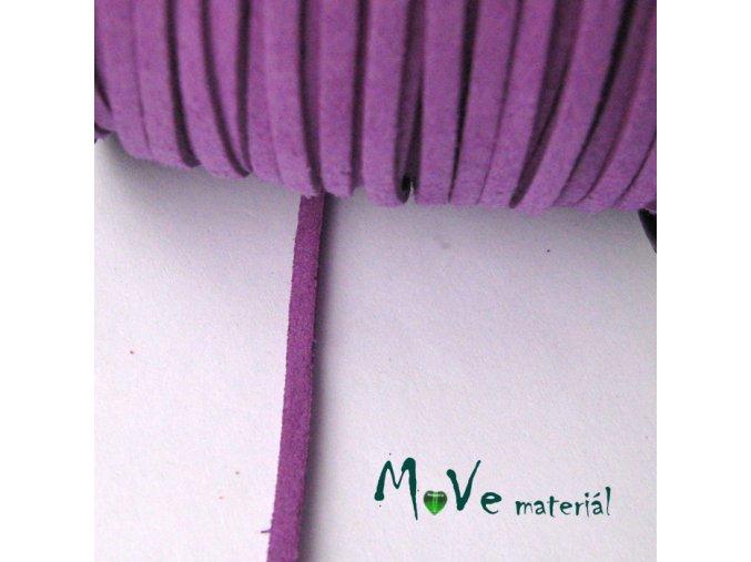 Plochá syntetická kůže, 1m, fialová