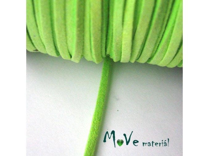 Plochá syntetická NEON - kůže, 1m, zelená