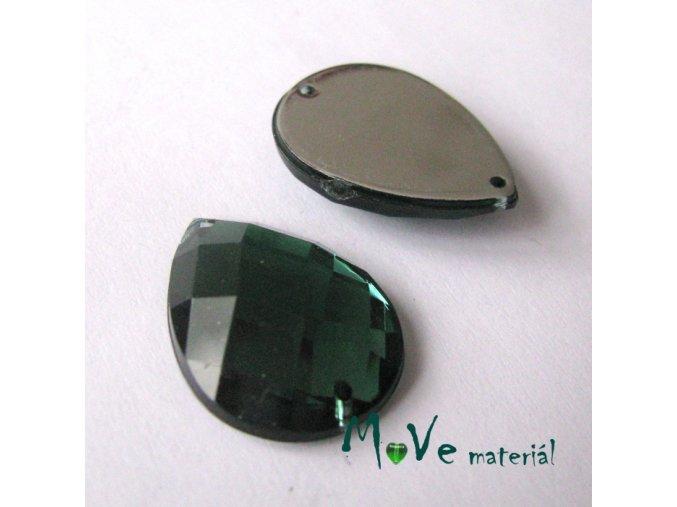 Plastový našívací kámen 15x21mm, 1ks, smaragdový