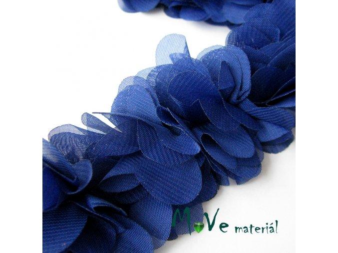 Prýmek na filcové pásce šíře 60mm/0,5m, modrý