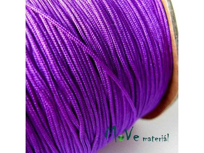 Nylonová pletená šňůra - 1mm/3m, fialová