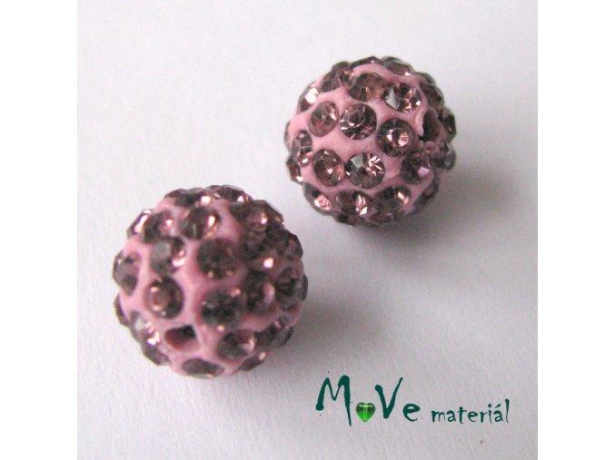 Polymerový korálek - kulička 10mm,1ks, růžový