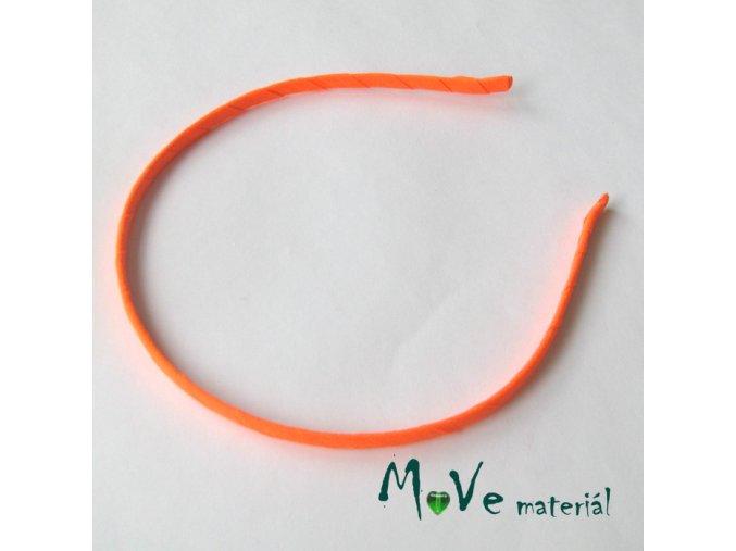 Čelenka jednoduchá potažená neonově oranžová/5mm