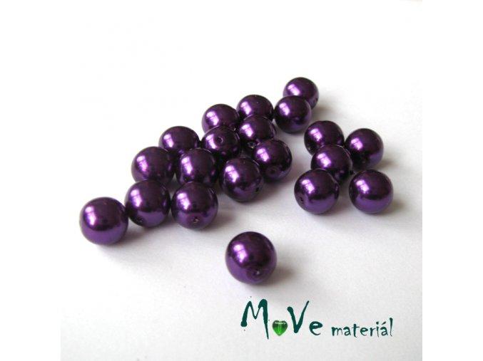 České voskové perle 9mm/20ks (cca 20g), fialové
