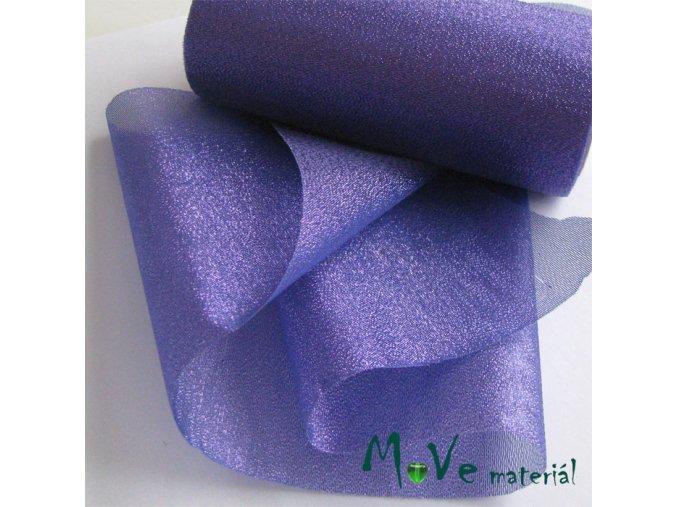 Řezaná stuha s lurexem fialová střední, 15cm, 1m