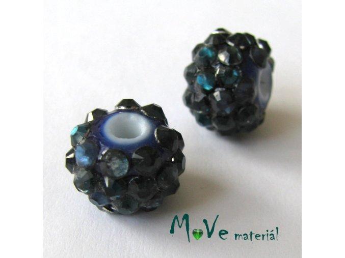 Porcelánový korálek - kulička 12mm,1ks, petrolejový