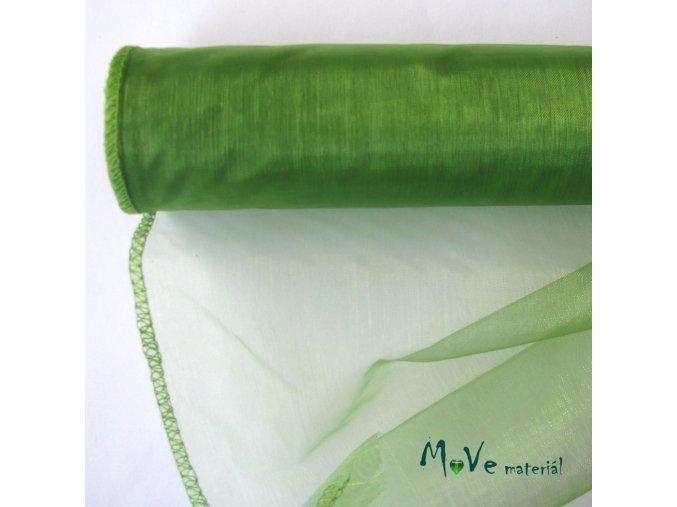 Organza zelená š. 35 cm/ 1m