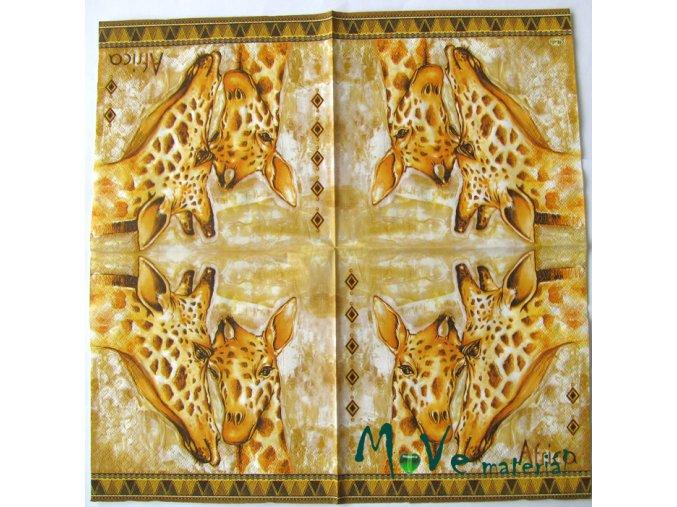 Ubrousek na decoupage 33 x 33cm 1ks, safari I