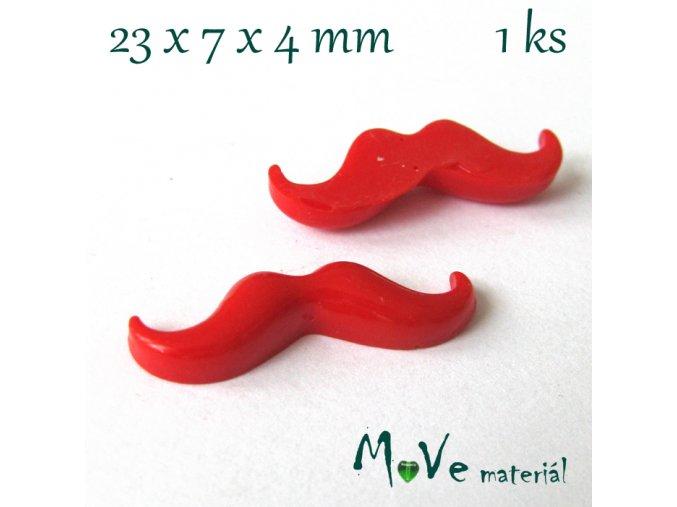 Kabošon KNÍR- resin - 1ks, červený