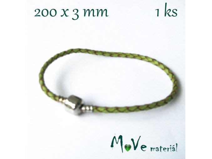 Splétaná šňůrka se zapínáním, 1ks, zelená